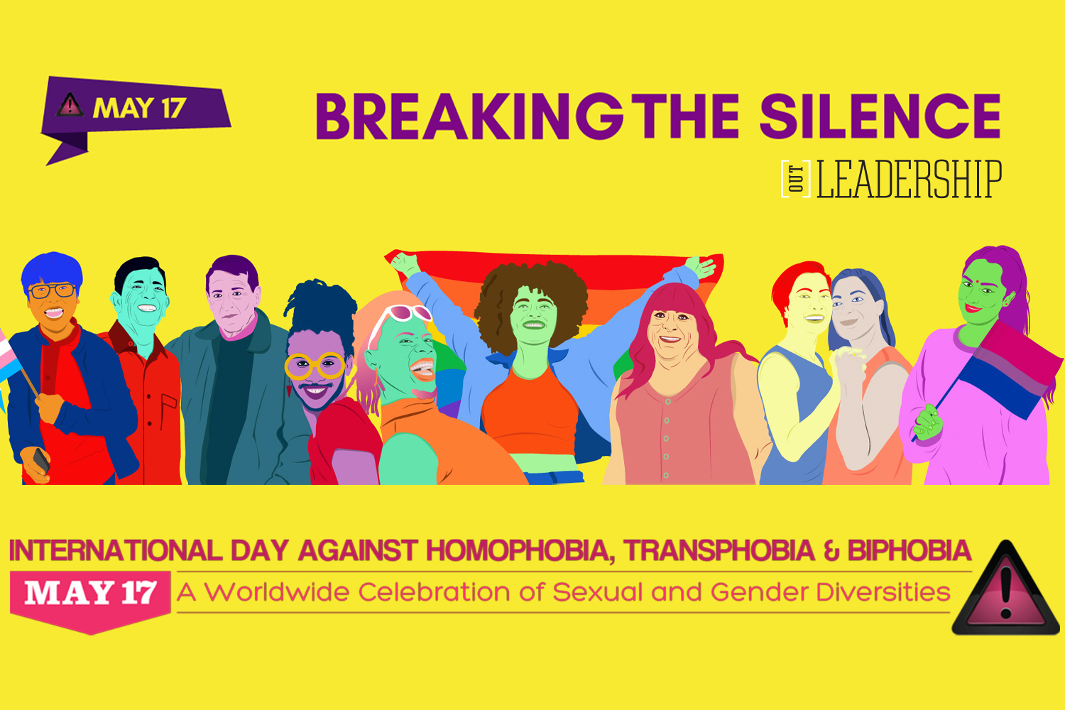 Marking the International Day Against Homophobia, Biphobia and Transphobia (IDAHOBIT)