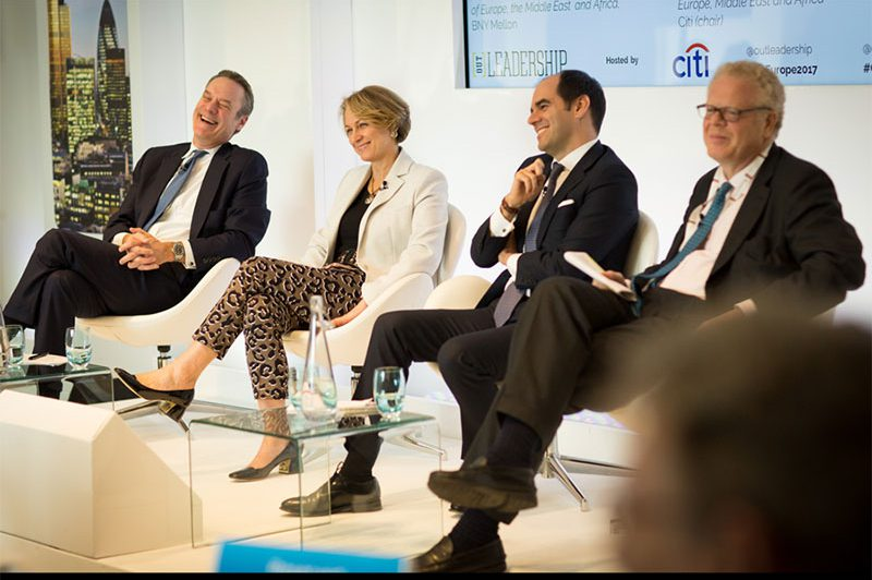 Europe Summit 2017: James C. Cowles (Chief Executive Officer for Europe, Middle East and Africa, Citi) speaks with Inga Beale (Chief Executive Officer, Lloyd's of London), Antonio Simões (Chief Executive, HSBC Bank plc), Michael Cole-Fontayn (former Executive Vice President and Chairman of Europe, Middle East and Africa, BNY Mellon)