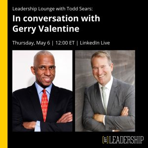 Leadership Lounge interview with Gerry Valentine 1